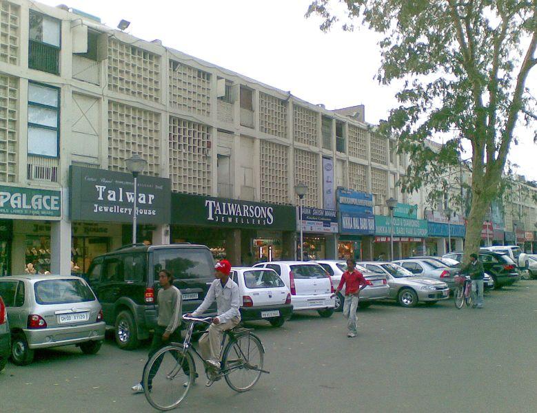 Chandigarh Sectors Map Sector 22 Market Chandigarh